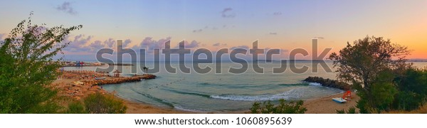 Sea shore panorama