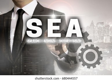 SEA is shown by businessman concept.