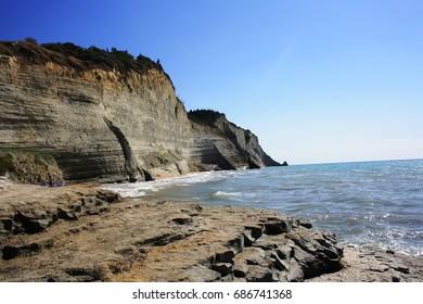 Sea at Sidari, Corfu island, Greece