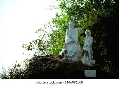 sea side statue goa india, travle photo grpahy