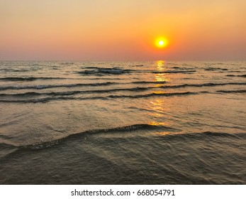 Sea and sky Before sunset background