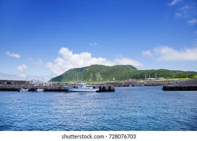 sea and sky at niijima in japan