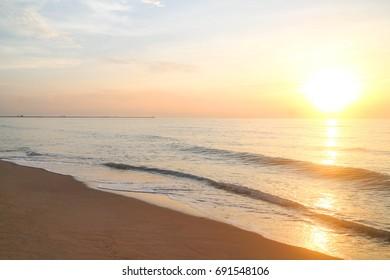 Sea and sky on beach