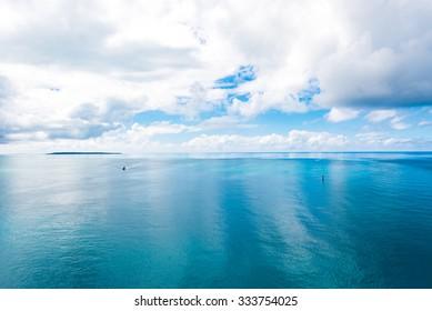Sea, sky, seascape. Okinawa, Japan, Asia.