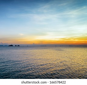 Sea and sky at sunset. Beautiful landscape.