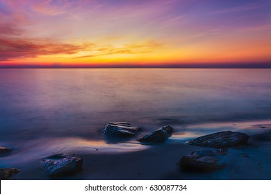 Sea and sky in Twilight time
