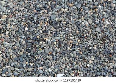 Sea small pebbles background