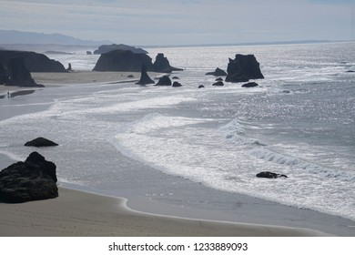 Sea stacks at low tide near Bandon, Oregon