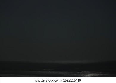 sea still in the black night