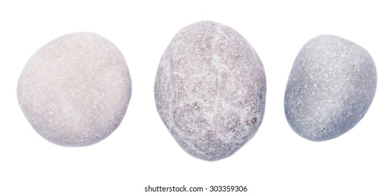 sea stones isolated on white background