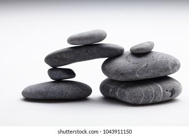 sea stones on white