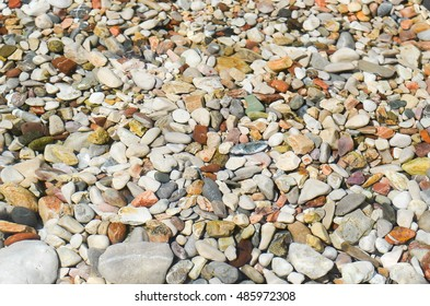 Sea stones under transparent sea water