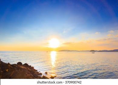 sea and sun in summer,Thailand