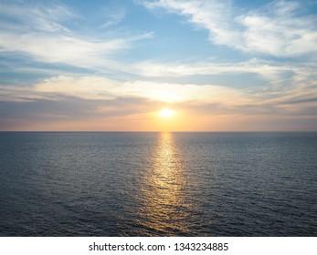 sea sunset, ocean sunrise, seascape