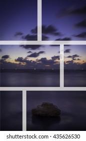sea sunset, rock, relax, peace, mindset, parts