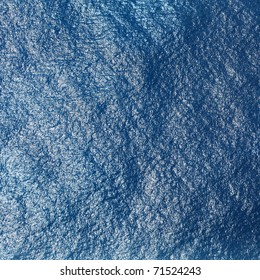 Sea surface with waves. View from plane