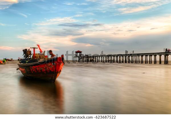 Sea thailand and bridge and sky