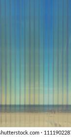 Sea through corrugated plastic sheet