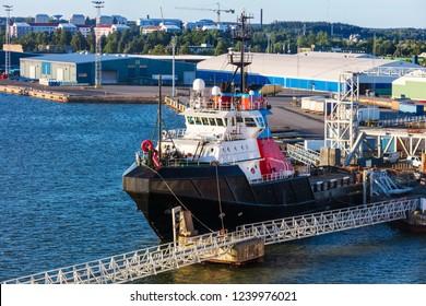 sea tug in port