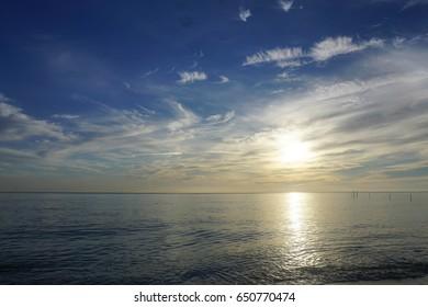 Sea and  twilight sky