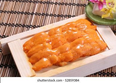 sea urchin sashimi