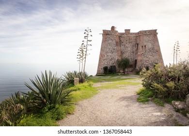 sea view in almunecar spain, atourist town in a province of Granada in the Costa Tropical