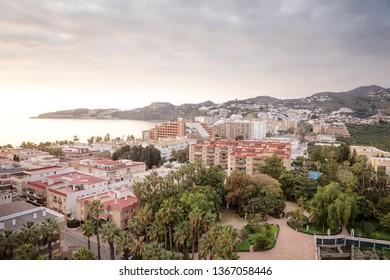 sea view in almunecar spain, a tourist town in a province of Granada in the Costa Tropical
