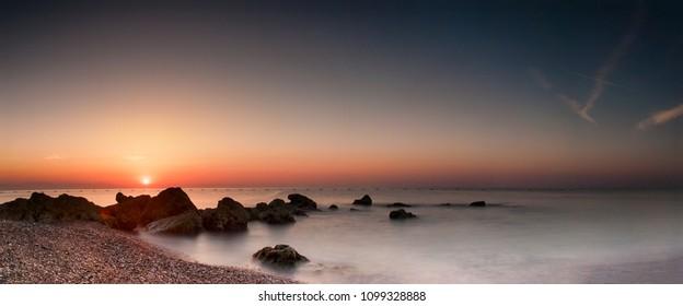 Sea view to Antalya region Turkey 2018