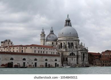 A sea view to the Basilica Santa Maria della Salute, Venice