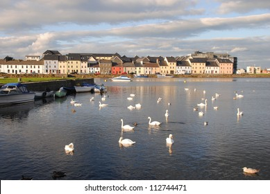 SEA VIEW OF GALWAY HARBOR, IRELAND