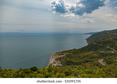 Sea view from a high cliff
