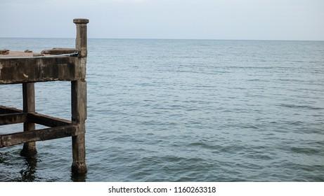 Sea view with the jetty bridge.