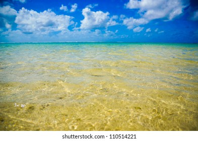Sea view from lagoon with crystal water