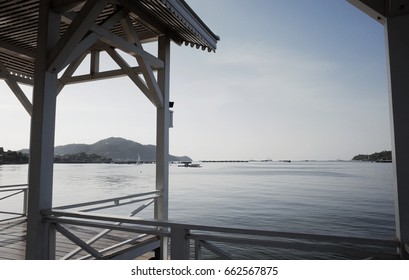 Sea View Landscape from Asadang Bridge at Koh Sichang Thailand 2