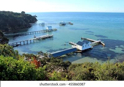 Sea view at Millionaires Walk, Artists Trail, Sorrento, Mornington Peninsula Victoria, Australia