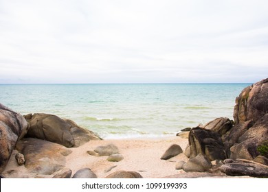 Sea view from on tropical beach