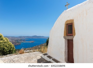 Sea view from a small church in Chora, the medieval town of Patmos