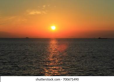 sea view a sunset at Tung Chung