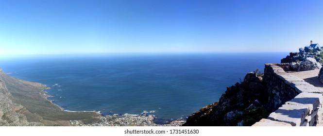 Meerblick aus Tafelberg, Südafrika