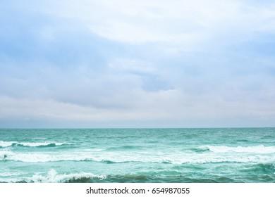 Sea view Wave & Sand beach background