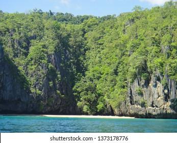 SEA VIEW/SABANG/PALAWAN/PHILIPPINES-MAY 2012: Sea view is colorful