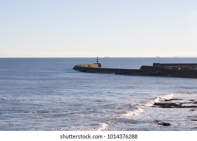 sea wall and light house