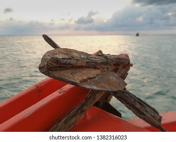 Sea water corrosion in the form of general attacked as layers of oxide on anchor used in fishing boat. Wet and dry repeatedly caused high concentration of Chlorides accelerated corrosion rate.