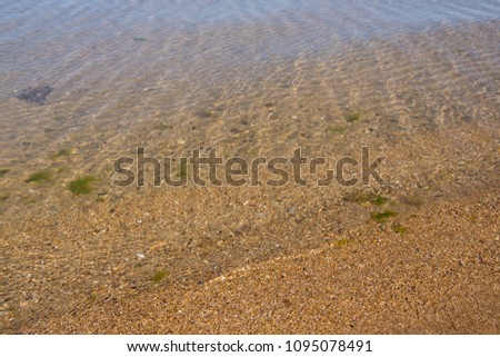 Background Of Transparent Sea Water On The Ocean Clear