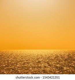 Sea water and sky at sunny summer noon. Seascape - background