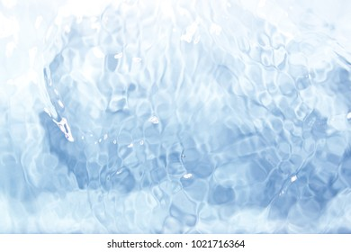 Sea / Water surface aerial view, water texture background, Light blue reflection on river wave ripples surface