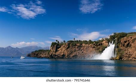 Sea waterfall image