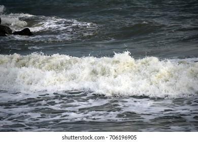 Sea wave at  beach Thailand.