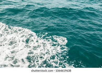 The sea wave close up, low angle view