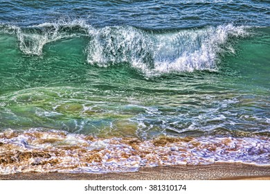 Sea wave on the shore